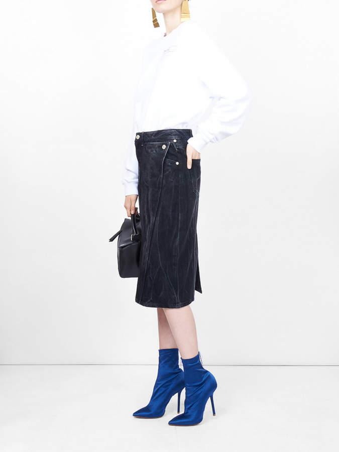 Givenchy High waist panelled skirt
