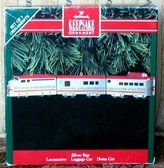 Hallmark 1992 Silver Star Set of 3 Train Ornaments Keepsake Ornament