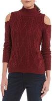 Leo & Nicole Cold-Shoulder Pullover Sweater