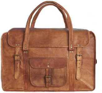 Vida Vida Vida Vintage Leather Travel Bag Large