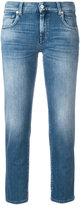 7 For All Mankind cropped jeans - women - Cotton/Polyester/Spandex/Elastane - 26