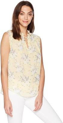 Rebecca Taylor Women's Sleeveless Lemon Rose Top