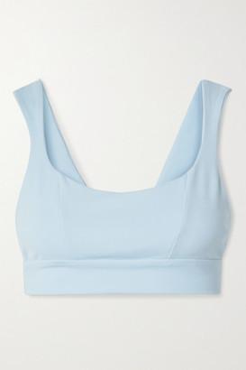 Live The Process Aura Stretch-supplex Sports Bra - Sky blue