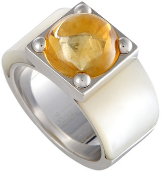 Van Cleef & Arpels 18K Citrine & Mother-Of-Pearl Ring