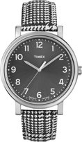 Timex Women's Elevated Classics T2N923 Two-Tone Leather Quartz Watch with Dial