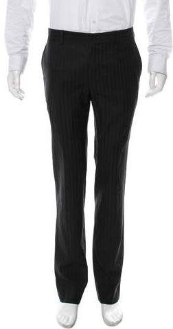 Dolce & Gabbana Striped Flat Front Pants