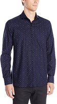 Stone Rose Men's Oxford Ghost Geo Long Sleeve Button Down Shirt