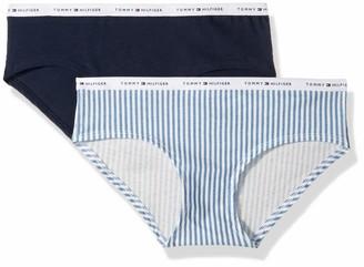 Tommy Hilfiger Women's Cotton Hipster Underwear Panty 2 Pack