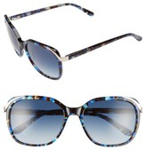 Ted Baker Women's 57Mm Oversized Sunglasses - Blue Tortoise