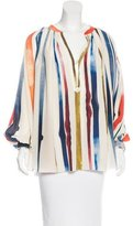 Sonia Rykiel Silk Striped Blouse w/ Tags