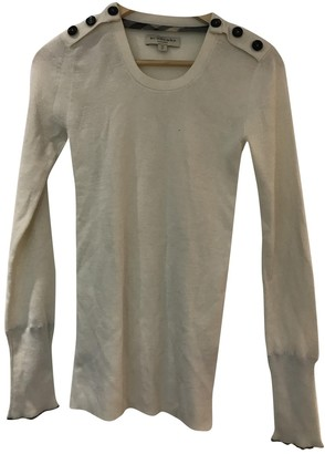 Burberry Beige Silk Knitwear for Women