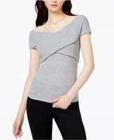 Bar III Off-The-Shoulder Crisscross Top, Created for Macy's