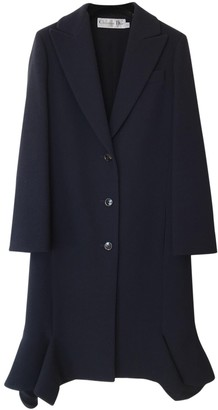 Christian Dior Blue Wool Coat for Women