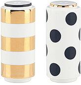 Kate Spade Fairmount Park Striped & Dotted Porcelain Salt & Pepper Shaker Set