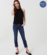 LOFT Modern Skinny Crop Jeans in Pure Dark Indigo Wash
