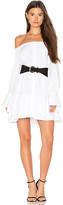 BCBGMAXAZRIA Button Down Shirt Dress in White