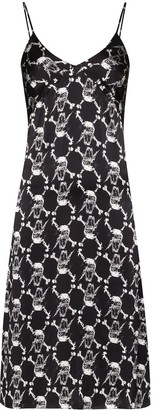 Ashley Williams Printed Fitted Mid-Length Dress