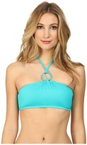 DKNY Cover Ring Solids Halter Bra Top