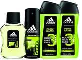 adidas Home & Gym – Pure Game 4pc Set – 1.7 oz Eau De Toillette (Home) + 4 oz Body Spray