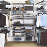 Container Store elfa decor Walk-In Closet Walnut & Platinum