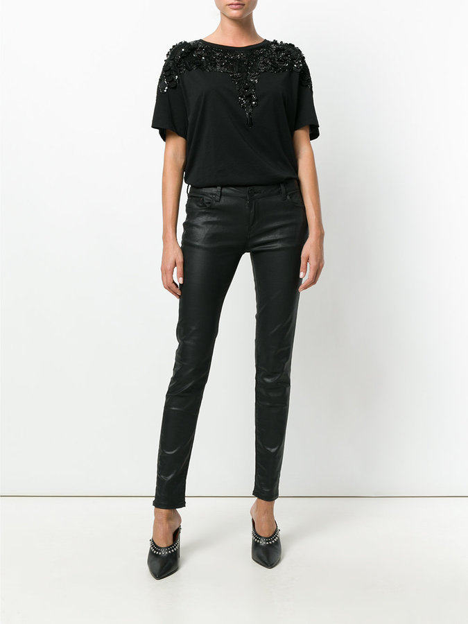 Marcelo Burlon County of Milan sequin embroidered T-shirt