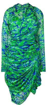 Preen by Thornton Bregazzi asymmetric draped dress