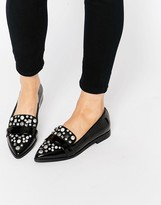 Asos MAYFAIR Embellished Pointed Flat Shoes