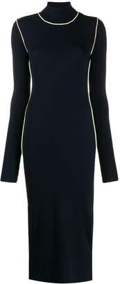 Maison Margiela ribbed fitted long-sleeve dress