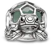 Thomas Sabo Women-Bead Turtle Karma Beads 925 Sterling Silver blackened Zirconia black aventurine green K0194-586-33