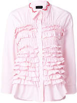 Simone Rocha ruffled embroidered collar shirt