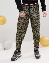 Asos Knitted Co-ord Joggers In Metallic Yarn Leopard Design