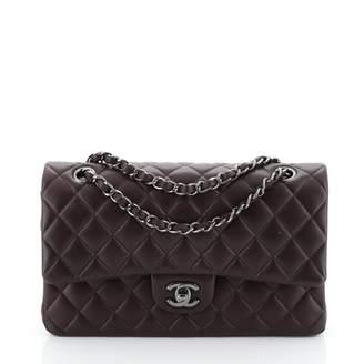 Chanel Timeless/Classique Purple Leather Handbags