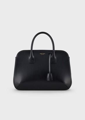 Giorgio Armani La Prima Tote Bag In Shiny Elaphe Snakeskin