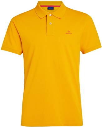 Gant Contrast Collar Pique Short Sleeve Polo Shirt