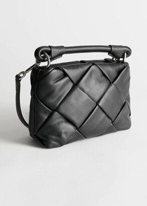 And other stories Padded Leather Crossbody Bag