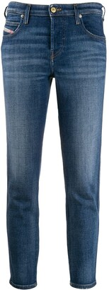 Diesel High Rise Cropped Jeans