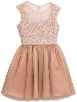 Rare Editions Lace Illusion Party Dress, Big Girls (7-16)