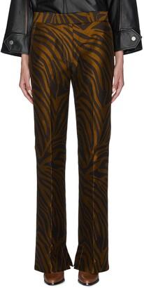 3.1 Phillip Lim Zebra jacquard flared pants