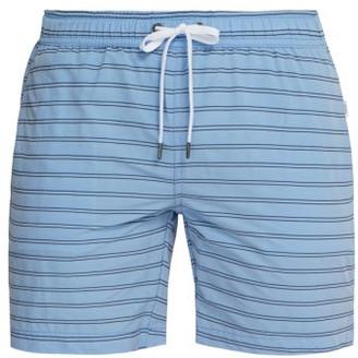 Onia Charles Striped Swim Shorts - Mens - Blue