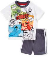 Children's Apparel Network Off-White Sesame Street Comic Tee & Shorts - Infant