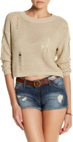 Cotton Emporium Long Sleeve Ripped Sweater