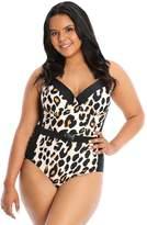 Lysa LYSA Plus-Size Cheetah Print One-Piece Swimsuit- Beth