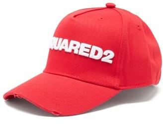 DSQUARED2 Logo-embroidered Cotton-gabardine Baseball Cap - Red White