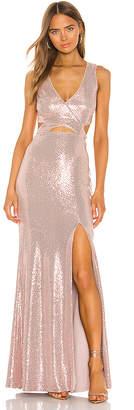BCBGMAXAZRIA Cut Out Gown