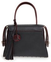 Tod's 'Twin' Leather Satchel - Black