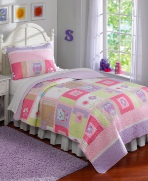 My World Happy Owls Reversible 2-Pc. Twin Quilt Set Bedding
