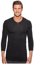 Nike Pro 3/4 Sleeve Baseball Top (Black) Men's Clothing