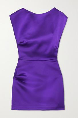 Georgia Alice Lily Gathered Satin Mini Dress - Purple