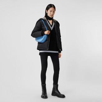 Burberry Check Feece-ined Hood ECONY Puffer Jacket