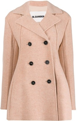 Jil Sander Loose-Fit Double-Breasted Coat
